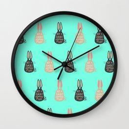 Not Subject, Hopping Fluff! Wall Clock