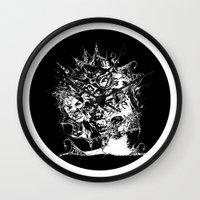 nightmare Wall Clocks featuring Nightmare by George Peters