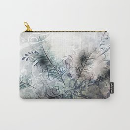 Fashion feather pattern Carry-All Pouch