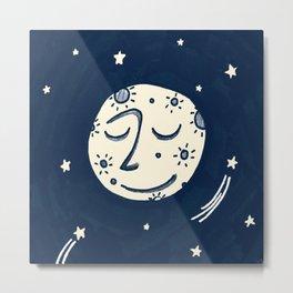 Moon Man Metal Print