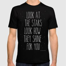 Look How They Shine For You Black SMALL Mens Fitted Tee