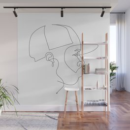 One Line For Dilla Wall Mural