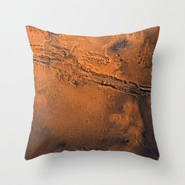 Valles Marineris, Mars Throw Pillow