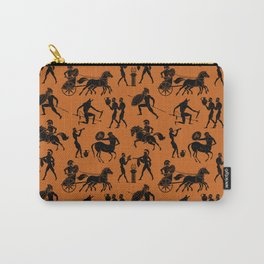 Greek Figures // Dark Orange Carry-All Pouch