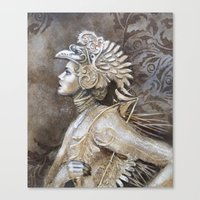 gladiator Canvas Prints featuring Gladiator by BLACK ANGELS AND PINK INSECTS