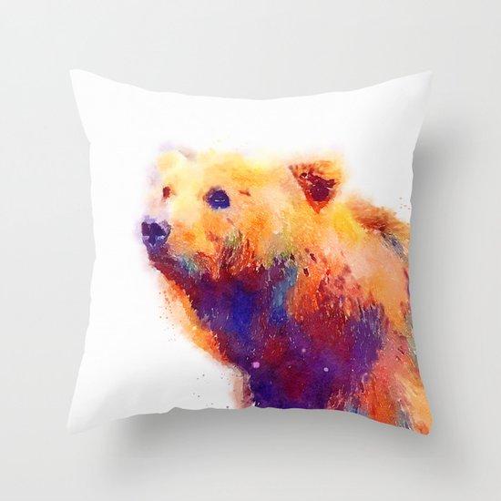 The Protective - Bear Throw Pillow