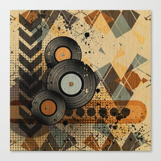 Retro Vinyl. Canvas Print