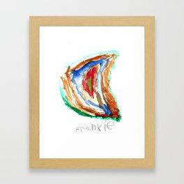 Rainbow moon by Frankie Framed Art Print