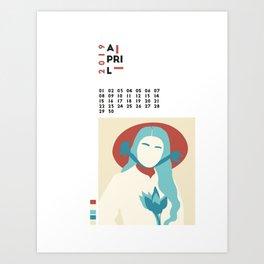 Calendar 2019 April Art Print
