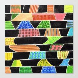 Black versus Color Canvas Print