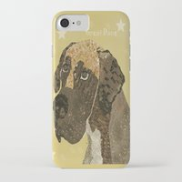 great dane iPhone & iPod Cases featuring the great dane by bri.buckley