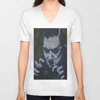 dracula V-neck T-shirts featuring Dracula by Paintings That Pop