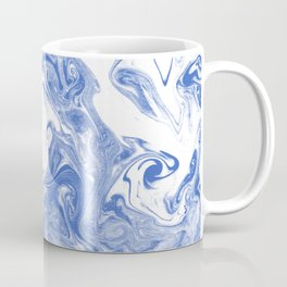 Marble Suminagashi indigo blue 2 watercolor pattern art pisces water wave ocean minimal design Coffee Mug