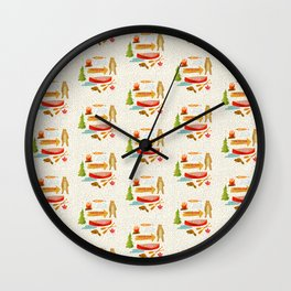 Morrison Lake Canadian Cottage Pattern Wall Clock