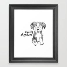 Dog Breeds: Australian Shepherd Framed Art Print