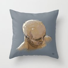 Man Head Throw Pillow