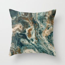 Agate Sea Throw Pillow