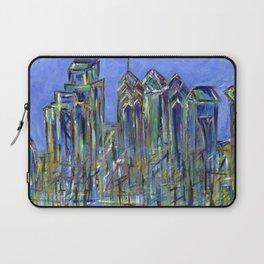 Blue Philadelphia Skyline Laptop Sleeve