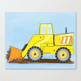 Construction Truck Art For boys bedroom decor Canvas Print