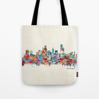 south africa Tote Bags featuring Port Elizabeth south africa by bri.buckley