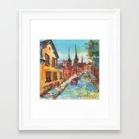 denmark Framed Art Prints featuring Roskilde, Denmark by Yevgenia Watts