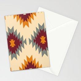 Aztec Southwestern pattern Navajo ornament Tribal Native American print Stationery Cards