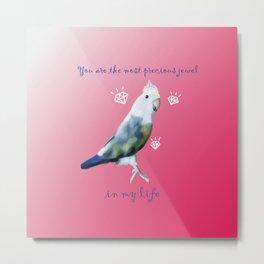 You are precious. Archie lovebird merch. Metal Print