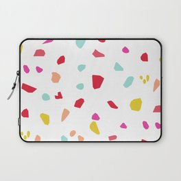 Lipstick And Petals - Modern Terrazzo Vector Pattern Laptop Sleeve