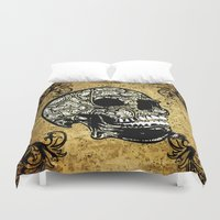 skull Duvet Covers featuring Skull by nicky2342