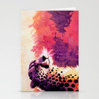 cheetah Stationery Cards featuring Cheetah by Fallen Apple Designs
