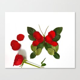 Butterfly-Rose Canvas Print