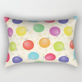 Colorful Christmas balls,Gold Snowflakes SB8 Rectangular Pillow
