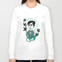 writer Long Sleeve T-shirts featuring Rimbaud Holy Writer by roberto lanznaster