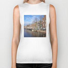 Amsterdam canal 3 Biker Tank