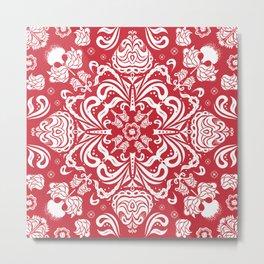Scarlet Bandana Metal Print
