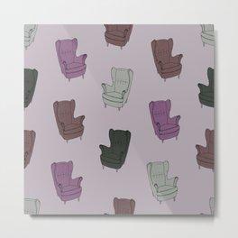 Seventies Armchair Pattern - Version 5 #society6 #seventies Metal Print