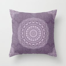 White Lace on Lavender Throw Pillow