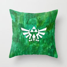 Zelda Triforce Painting Throw Pillow