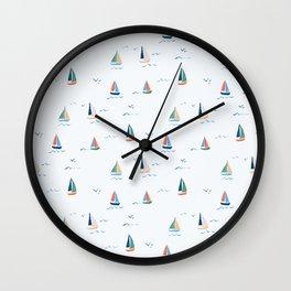 Sailboats by Lindsay Brackeen Wall Clock