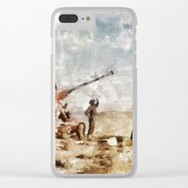 Bofors, Desert War, WWII Clear iPhone Case