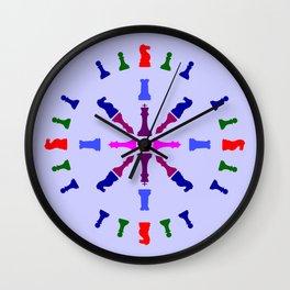 Chess Piece Design Wall Clock