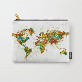 Map of the World watercolor Carry-All Pouch