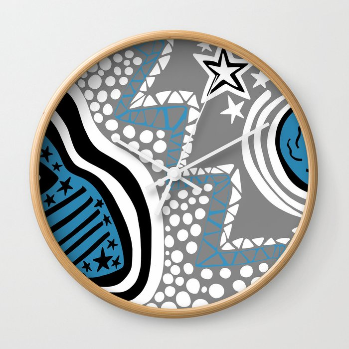 Soul Of The Dream Desert - Star Gazer (Blue and Grey Edition) Wall Clock