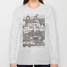"""Carretera de coches con esqueletos """"Santa Muerte"""" Long Sleeve T-shirt"""