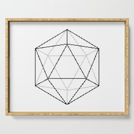 d20 vector art Serving Tray
