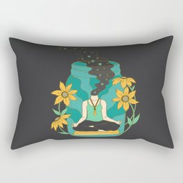 Meditation in a Jar Rectangular Pillow