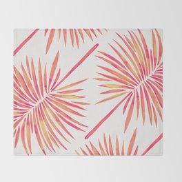 Tropical Fan Palm – Pink Palette Throw Blanket