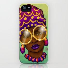 Gold Specs iPhone Case
