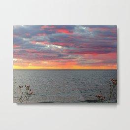 Pink Skies and Virga on the Sea Metal Print