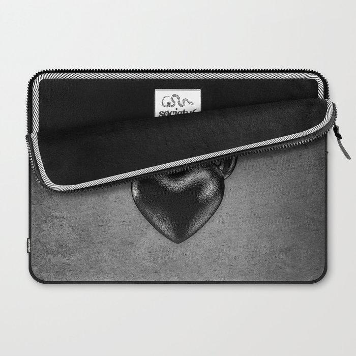 Kettlebell heart / 3D render of heavy heart shaped kettlebell Laptop Sleeve